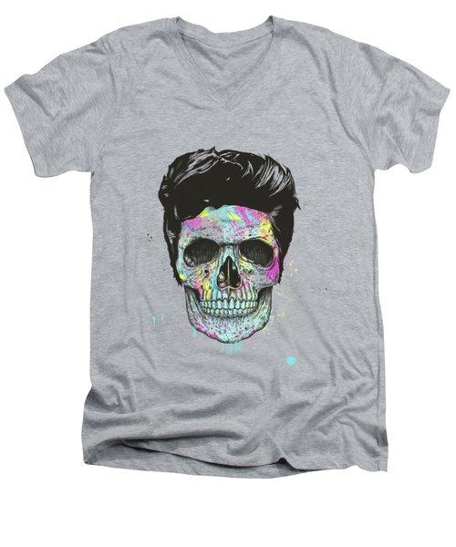Color Your Skull Men's V-Neck T-Shirt
