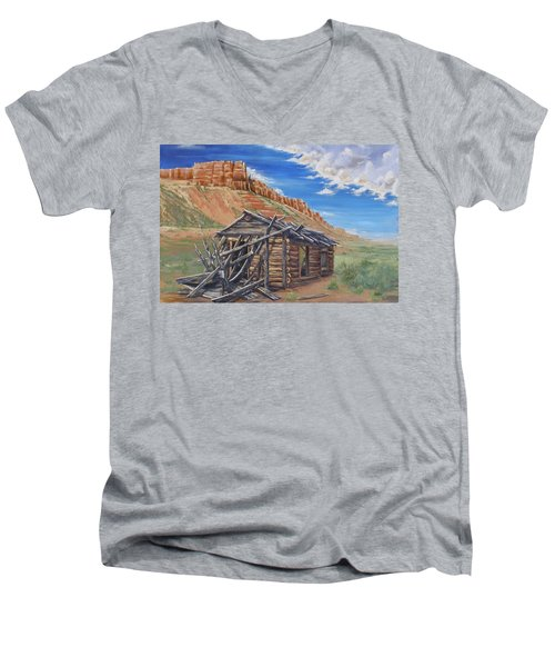 Colorado Prarie Cabin Men's V-Neck T-Shirt