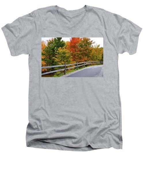 Colorful Lane Men's V-Neck T-Shirt