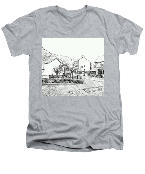 Coniston High Street Men's V-Neck T-Shirt