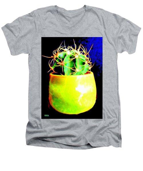 Contemporary Cactus Men's V-Neck T-Shirt