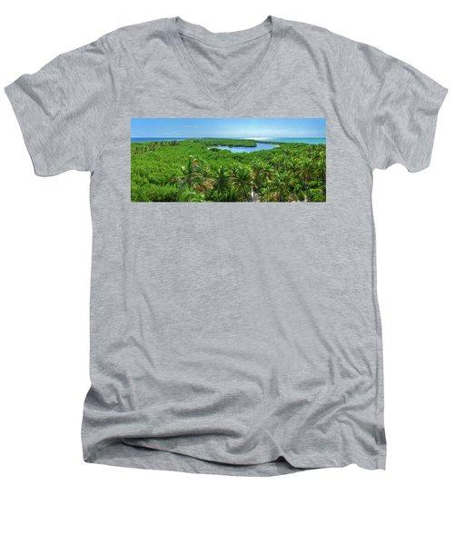 Contoy Island Men's V-Neck T-Shirt