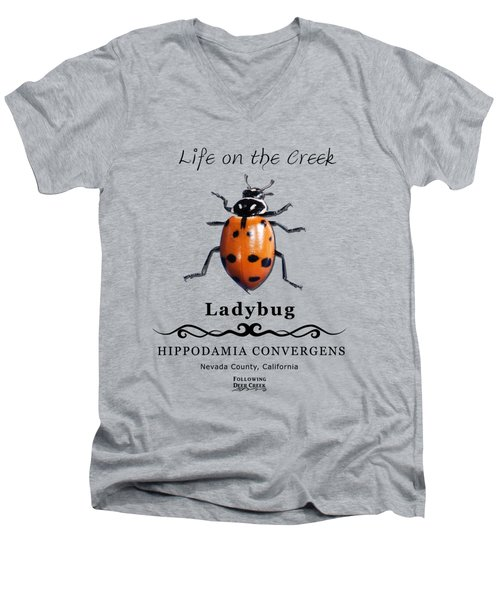 Convergens Ladybug Men's V-Neck T-Shirt