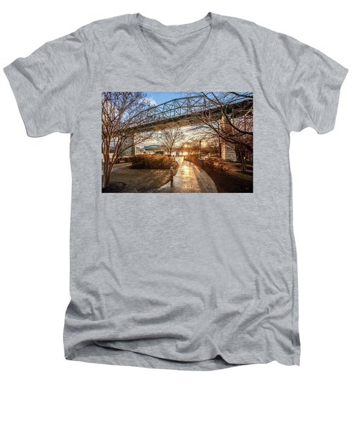 Coolidge Park Path At Sunset Men's V-Neck T-Shirt