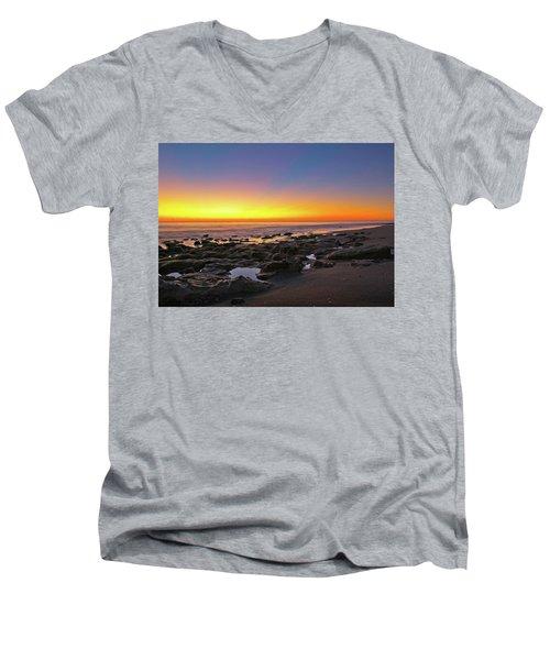 Coral Cove Nautical Twilight Men's V-Neck T-Shirt