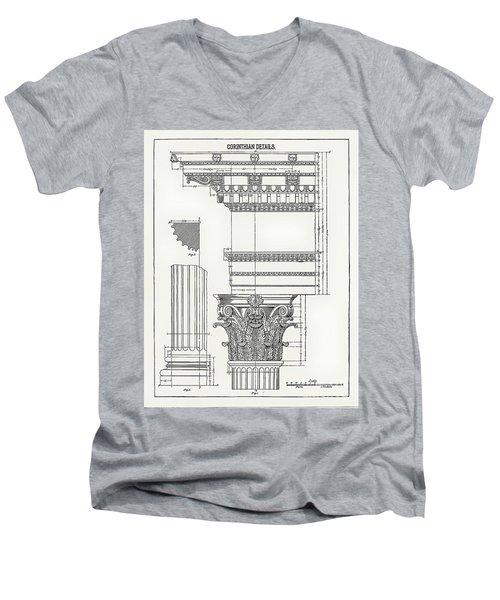 Corinthian Architecture Men's V-Neck T-Shirt