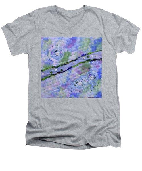 Cosmic Stream Men's V-Neck T-Shirt
