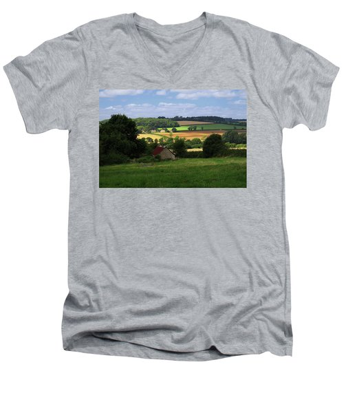 Men's V-Neck T-Shirt featuring the photograph Cotswolds - England by Rick Veldman
