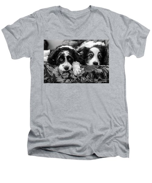 Couch Potatoes Men's V-Neck T-Shirt