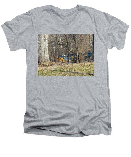Country Train Men's V-Neck T-Shirt