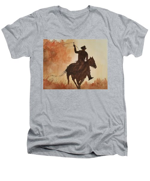 Cowboy Hero Men's V-Neck T-Shirt