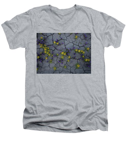 Cracked Blossoms Men's V-Neck T-Shirt
