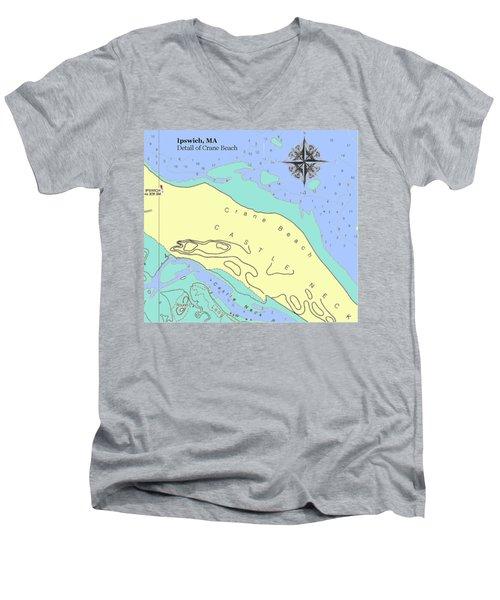 Crane Beach Men's V-Neck T-Shirt
