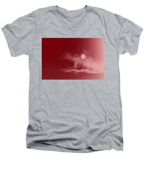 Crimson Sky Men's V-Neck T-Shirt