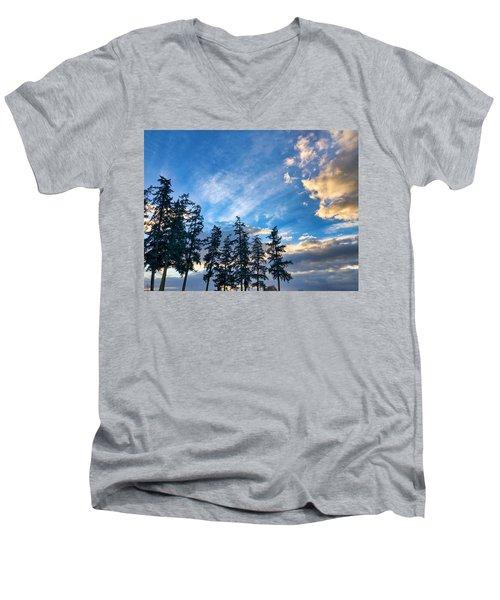 Crisp Skies Men's V-Neck T-Shirt