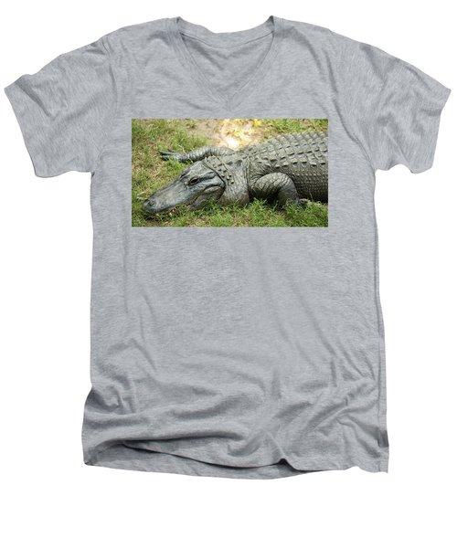 Crocodile Outside Men's V-Neck T-Shirt