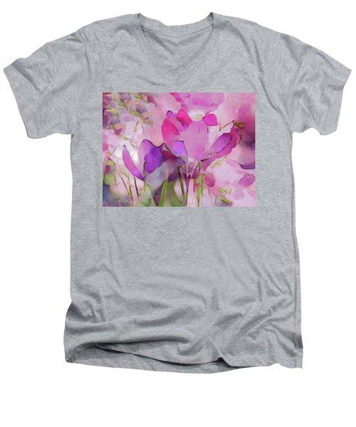 Crocus So Pink Men's V-Neck T-Shirt