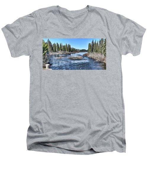 Crooked River Men's V-Neck T-Shirt