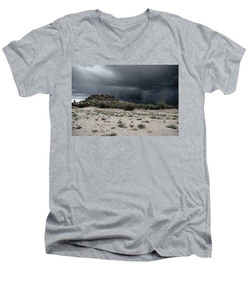 Cross On A Hill Men's V-Neck T-Shirt