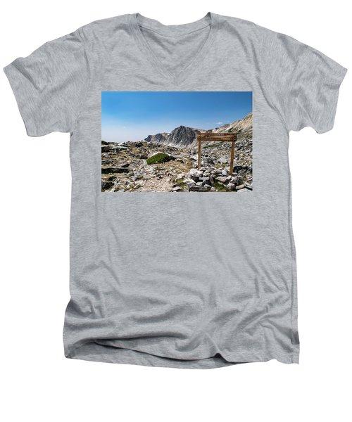 Crossroads At Medicine Bow Peak Men's V-Neck T-Shirt