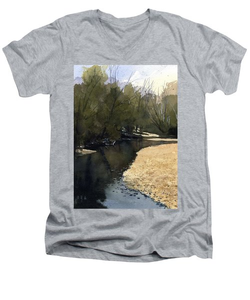 Crow Creek, Augusta, Missouri Men's V-Neck T-Shirt