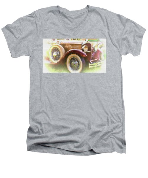 Cruise Into Tomorrow With Yesterday's Wheels Men's V-Neck T-Shirt