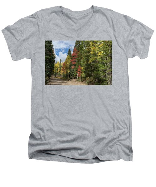 Men's V-Neck T-Shirt featuring the photograph Cruising Colorado by James BO Insogna