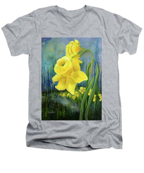 Daffodil Dream Men's V-Neck T-Shirt