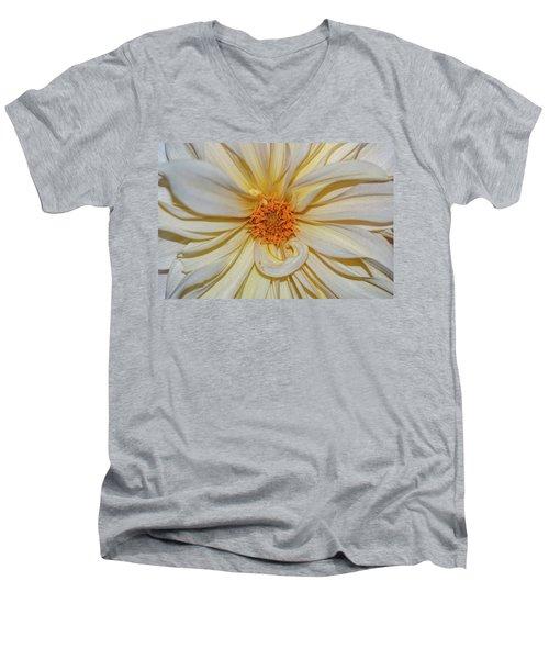 Dahlia Summertime Beauty Men's V-Neck T-Shirt