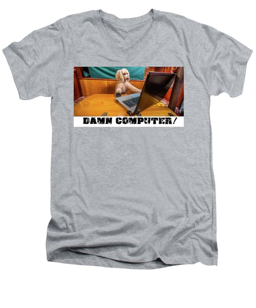 Damn Computer Men's V-Neck T-Shirt