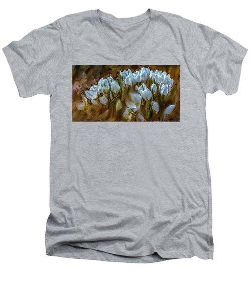 Dance In White #i6 Men's V-Neck T-Shirt