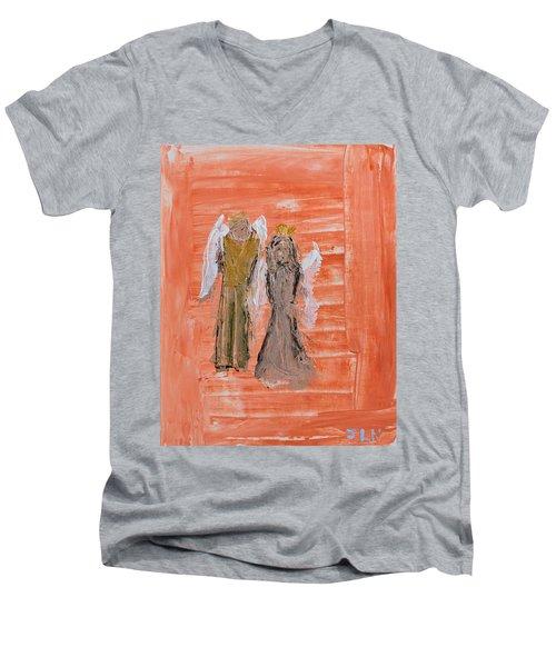 Dating Angels Men's V-Neck T-Shirt