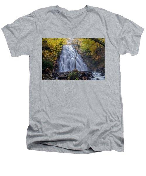 Dawn At Crabtree Falls Men's V-Neck T-Shirt