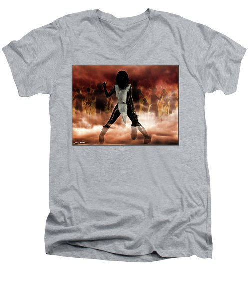 Deathstalker Vs Evil Dead Men's V-Neck T-Shirt