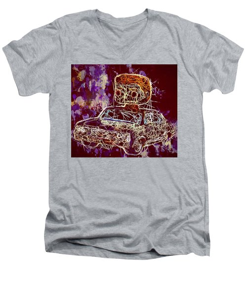 Dean Winchester Car Supernatural Pop  Men's V-Neck T-Shirt
