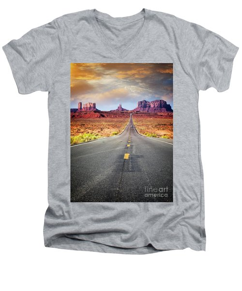 Desert Drive Men's V-Neck T-Shirt