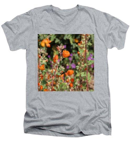 Desert Wildflowers Men's V-Neck T-Shirt