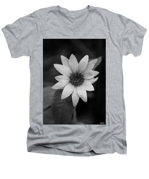 Dewdrops On A Sunflower Men's V-Neck T-Shirt