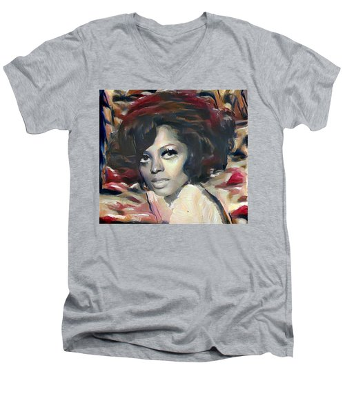 Diana Ross Men's V-Neck T-Shirt