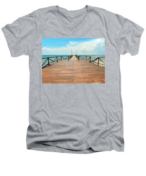 Dock To Infinity Men's V-Neck T-Shirt
