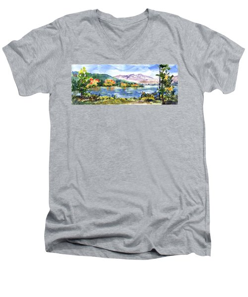 Donner Lake Fisherman Men's V-Neck T-Shirt