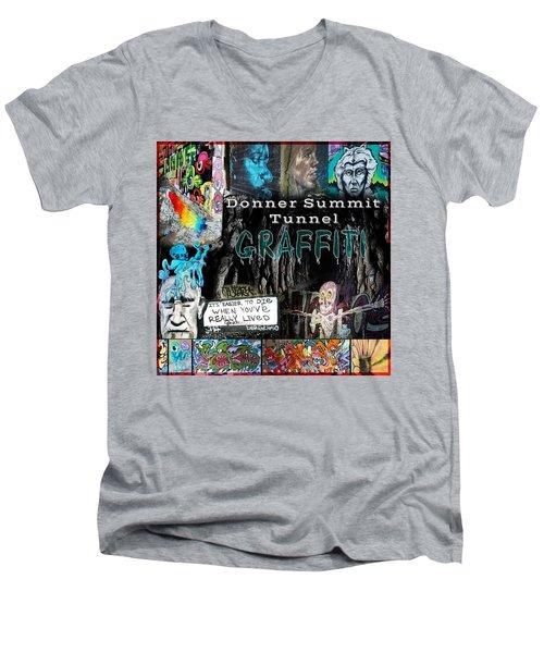 Donner Summit Graffiti Men's V-Neck T-Shirt