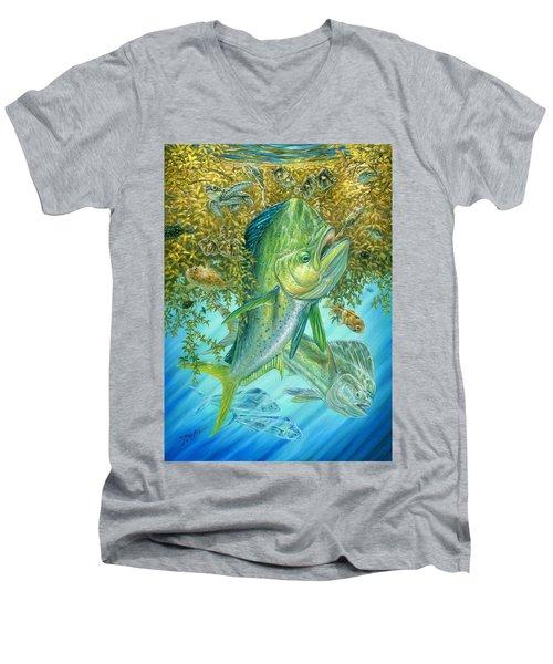 Dorados Hunting In Sargassum Men's V-Neck T-Shirt