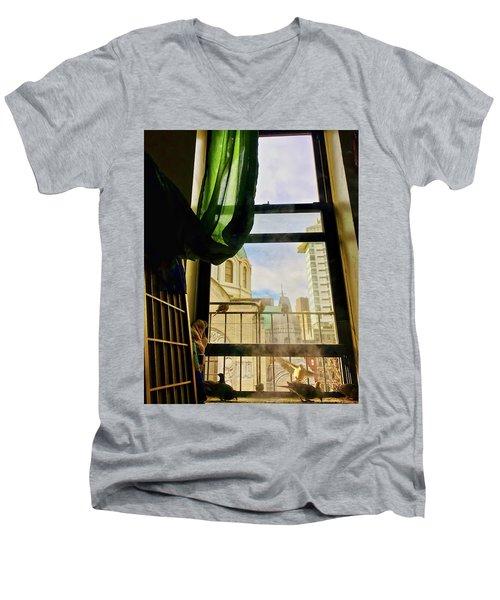 Doves In My Window Men's V-Neck T-Shirt
