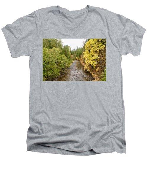 Down The Molalla Men's V-Neck T-Shirt