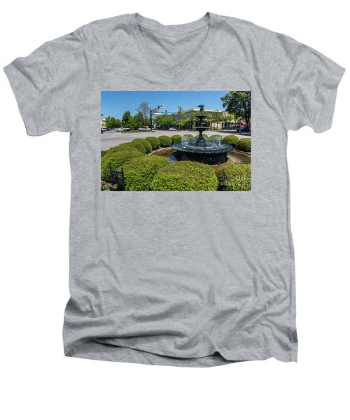 Downtown Aiken Sc Fountain Men's V-Neck T-Shirt