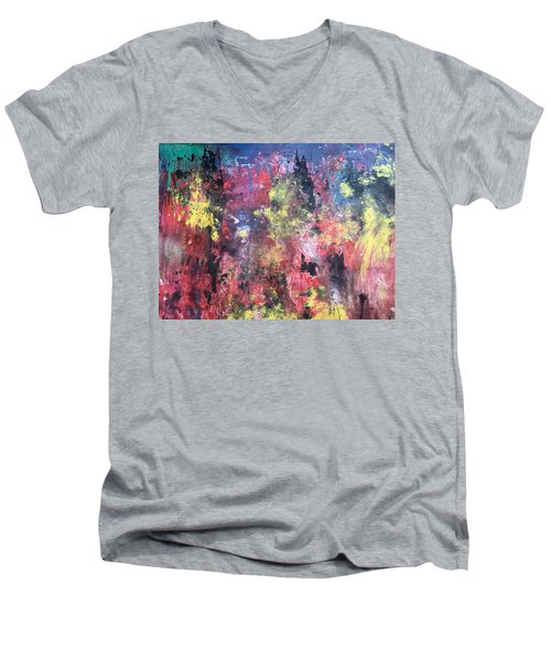 Downtown Sac Men's V-Neck T-Shirt