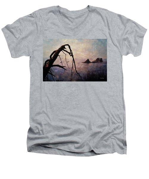 Men's V-Neck T-Shirt featuring the photograph Drama At Sunset by Randi Grace Nilsberg