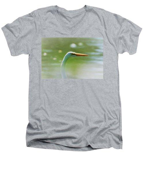 Dreamy Great White Egret Men's V-Neck T-Shirt