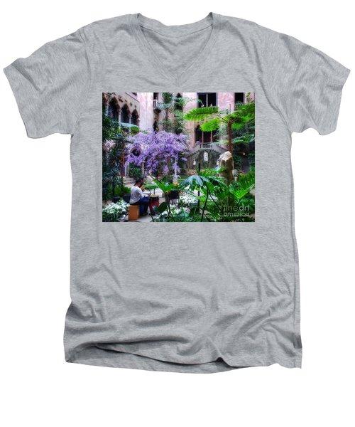 Dreamy Sunday Men's V-Neck T-Shirt